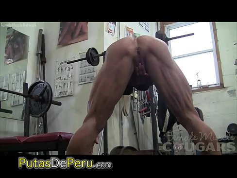 masturbates and out works lacey bodybuilder Female