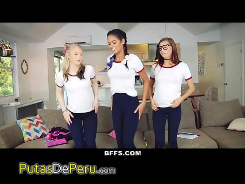 Bffs naughty teen tutors seduce student 7
