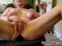masturbates and tits her abuses granny Kinky